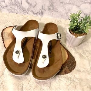 New Birkenstock white Gizeh thong sandals